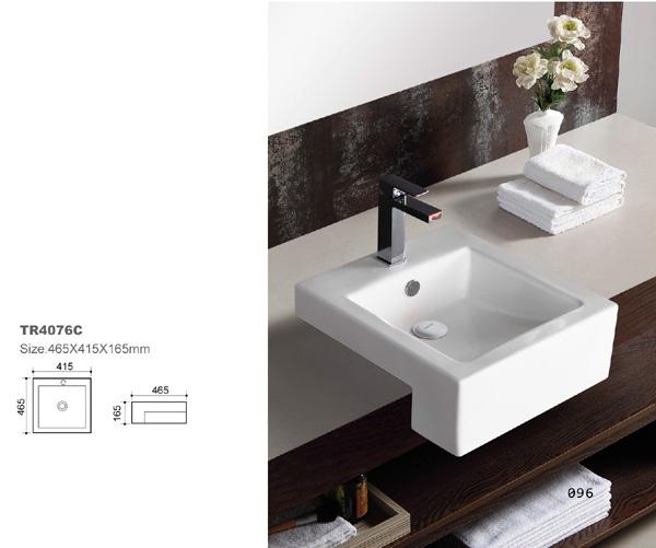 Bathroom Ceramic Drop in Sink BCS4076C-4429
