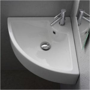 Bathroom Corner Wall Mounted Ceramic Sink BCS4053-4601