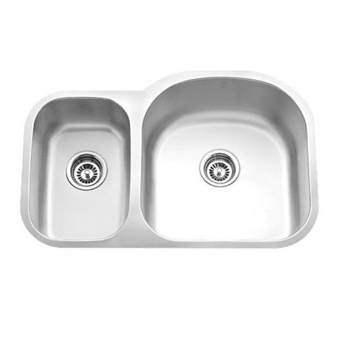 """32""""x20"""" Under-mount Double-bowl SS Kitchen Sink (KUS_MK531R)-0"""