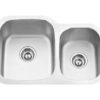 "27""x18"" Under-Mount Double-bowl Kitchen Sink (KUS_MK506L)"