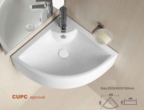Bathroom Corner Wall Mounted Ceramic Sink BCS4053-4600