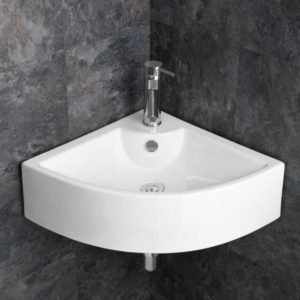 Bathroom Corner Wall Mounted Ceramic Sink BCS4053-0