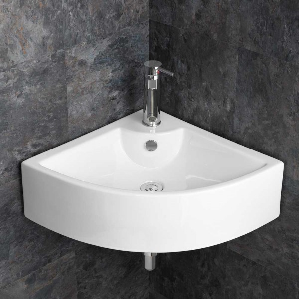 Bathroom Corner Wall Mounted Ceramic Sink BCS4053-0