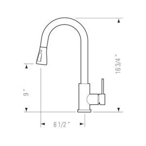 Kitchen Faucet KPF-PL847SS - SASHA-4382