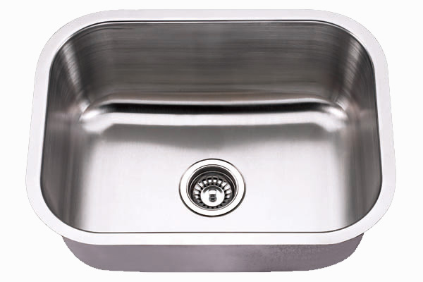 "23x18"" Under-Mount Single Bowl Stainless Steel Kitchen Sink (KUS_M2318)"