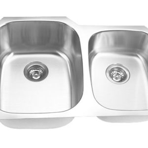 "30""x21"" Double Bowl Under-mount Stainless Steel Kitchen Sink (KUS_M3021L)"