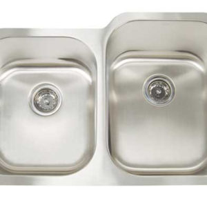 "32""x21"" Double-Bowl Under-Mount Premium Stainless Steel Kitchen Sink (KUS_M3221R)"