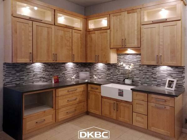 Natural Maple Shaker Kitchen Cabinets M47   DKBC-Discount ...