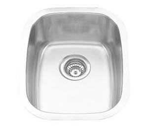 "15""x18"" Quality Under-mount Single Bowl Kitchen Bar Sink (KUS_MK915)"
