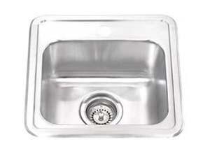 "15""x15""x6"" 22 Gauge Top-Mount Single Bar Sink (KTS_PL115-1)-0"