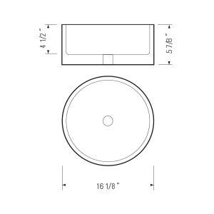 White Oval Ceramic Bathroom Vessel Sink (BVS PL118