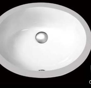 "13"" x 10"" Ceramic Bathroom Sink, White Oval Sink (USC001)"