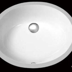 "16"" x 13"" White Oval Ceramic Bathroom Sink (USC005)"