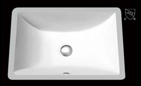 "16""x11"" White Square Ceramic Bathroom Sink (USC015)"