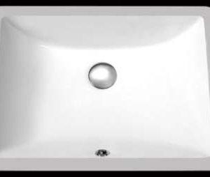 "18""x13"" White Square Under-Mount Ceramic Bathroom Sink (USC018)"