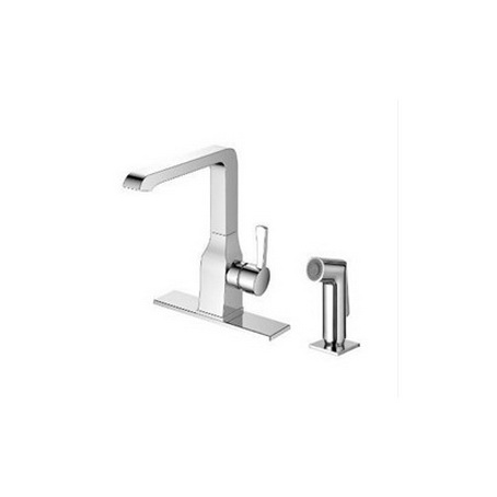 Kitchen/Bar faucet with swivel spout and side spray (56277NN) -0
