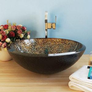 BVGJ005 - Bathroom Hand Made Glass Vessel Sink