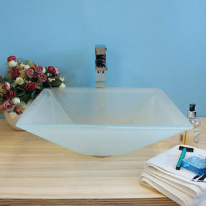 BVGJ009 - Bathroom Hand Painted Glass Vessel Sink
