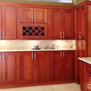 Double shaker cherry cabinets