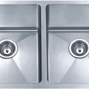 DKBC 3219 Small Radius Double-bowl (50/50) 16 Gauge SS Kitchen Sink