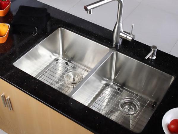 DKBC 2918 Small Radius Double-Bowl (50/50) SS Kitchen Sink (KUS_R2918D55)