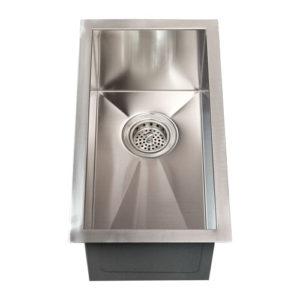 """23""""X8.5"""" Zero Radius Single-bowl 16 Gauge SS Kitchen Sink (KUS_2385) -0"""