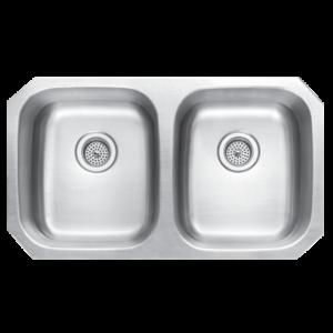DKBC 3118 Stainless Steel 50/50 Double Bowl Kitchen Sink (KUS_M3118D55)