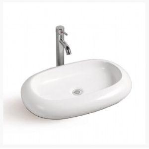 DKBC Oval Bathroom Ceramic Vessel Sink