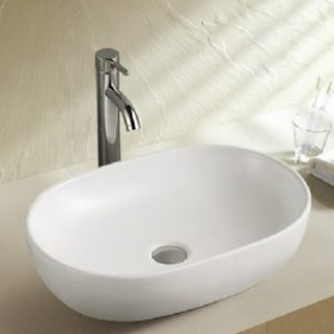 DKBC Oval Bathroom Ceramic Vessel Sink (BVSG-246)