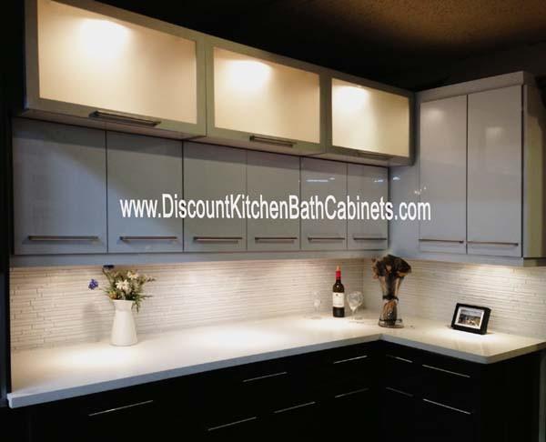 High Gloss Acrylic Charcoal Grey Kitchen Cabinets M32 Dkbc Discount Kitchen Bath Cabinets