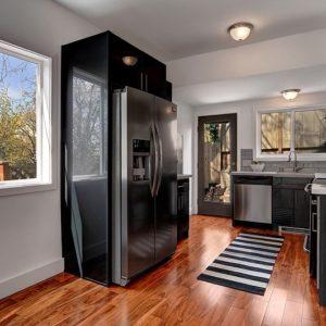 DKBC-High gloss charcoal grey kitchen