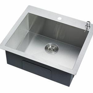 DKBC 2421 Top Mount Zero Radius 16 Gauge Kitchen Sink