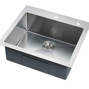 DKBC 2421 Top Mount Small Radius 16 Gauge SS Kitchen Sink