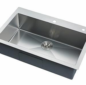 "DKBC 30""x21"" Top mount Small Radius 16 Gauge SS Kitchen Sink (KTS_R3021S)"