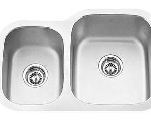 """27""""x18"""" Quality Under-Mount Double-bowl Stainless Steel Kitchen Sink (KUS_MK506R)-0"""