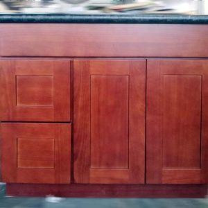 "DKBC Bathroom Vanities (24""-60"") - Amber Shaker Cherry G4A"