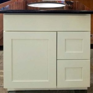 "Bathroom Vanities (24""-60"") - Pearl White Shaker Maple G9-0"