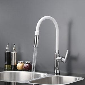 White Pull-out Spray Kitchen Faucet (KPFJ008WH)