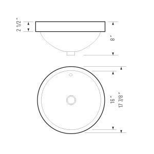DKBC Top Mount Oval Ceramic Bathroom Sink (BVS PL081)