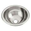 Stainless Steel Oval Bathroom Vessel Sink (BVS-PL416)