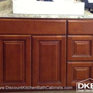 "DKBC M25 36"" vanity with 3 drawer at right"