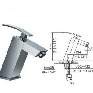 DKBC Bathroom Lavatory Faucet (BLFT-628C)