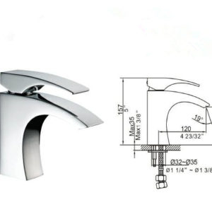Bathroom Lavatory Faucet (BLFT-586C) DKBC