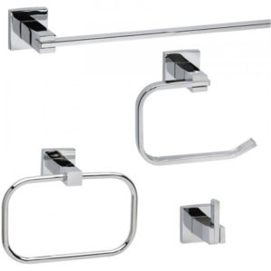 Robson 4 Piece Bath Set — Polished Chrome-0