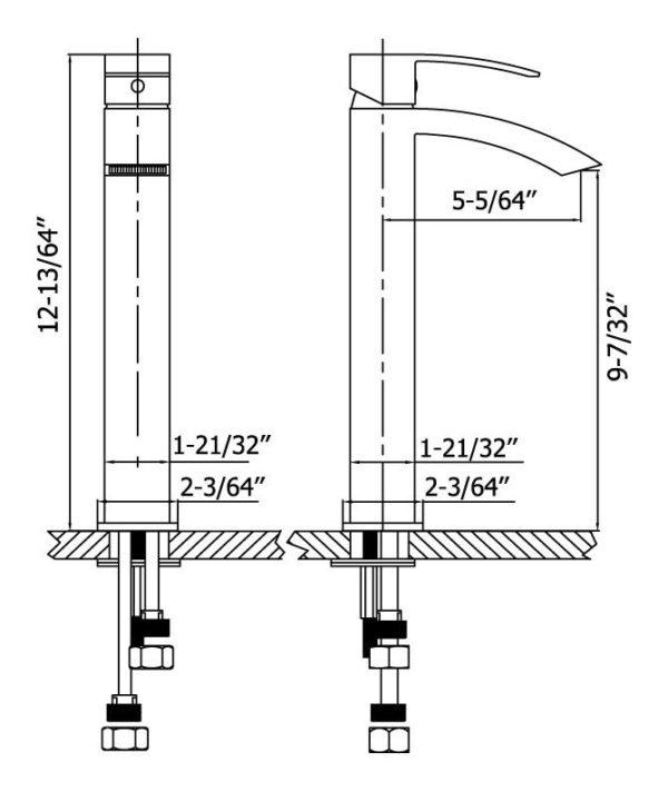 Alexandria BN Vessel Faucet (BVF-E6921-BN)-4916
