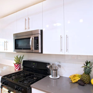 DKBC-High gloss acrylic white kitchen
