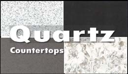 A big selection of quartz countertops