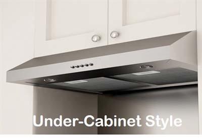 Under-cabinet range hoods