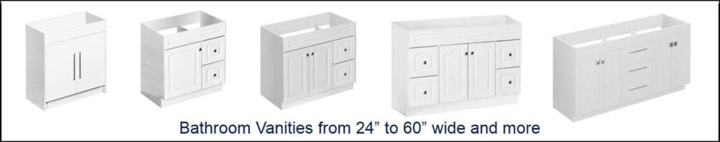 Bathroom vanities from 24 inch to 60 inch and more