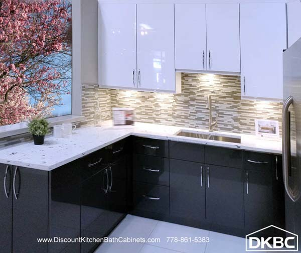 High Gloss Acrylic White Flat Kitchen Cabinets M30 Dkbc Discount Kitchen Bath Cabinets